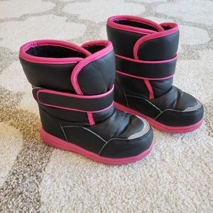 Hot Pink Trim Snow Boots